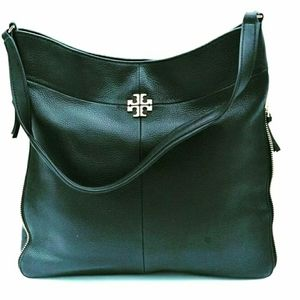 Tory Burch Black Genuine Leather Shoulder Bag